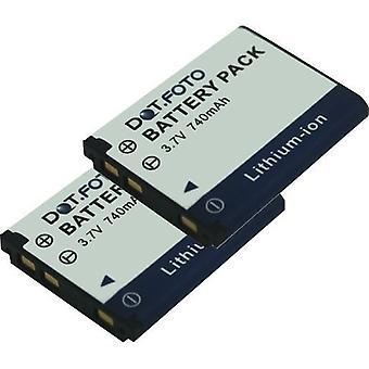 2 x Dot.Foto Minox D016-05-8023, 02491-0066-07 ersättningsbatteri - 3.7V / 740mAh