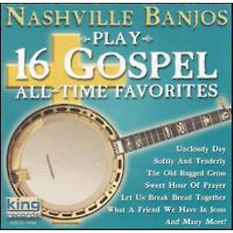 Banjos de Nashville - juego 16 Evangelio tiempo favoritos [CD] USA importar