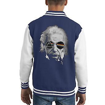 Dark Side Of Albert Einstein Kid's Varsity Jacket