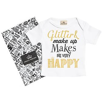 Spoilt Rotten Glitter & Make Up Short Sleeve Baby T-Shirt