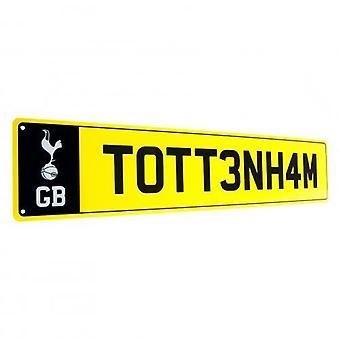 Tottenham Hotspur nummer plaat teken