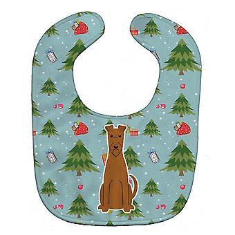 Carolines Treasures  BB4722BIB Christmas Irish Terrier Baby Bib