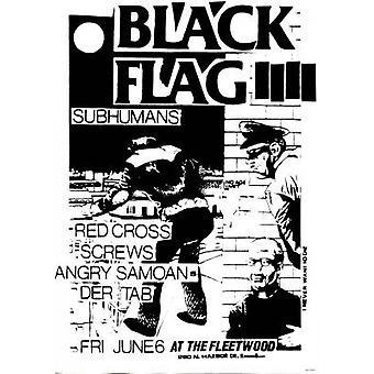 Black Flag Subhumans Poster Poster Print
