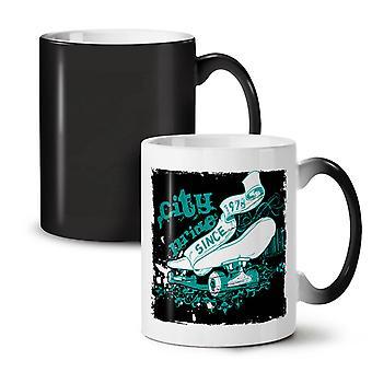 City Prince Skate NEW Black Colour Changing Tea Coffee Ceramic Mug 11 oz | Wellcoda