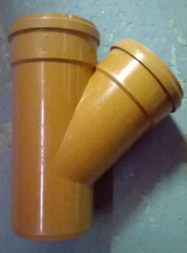 Soil Pipe 160 mm - Branch With 45 degree Inlet - Push-Fit - Underground - Brown
