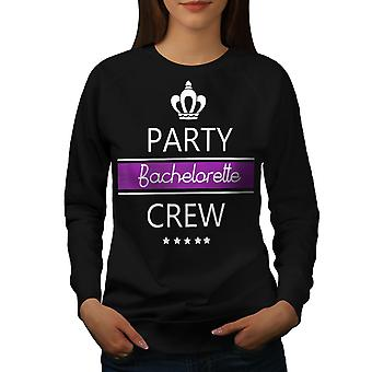 Bachelor Party Women BlackSweatshirt | Wellcoda