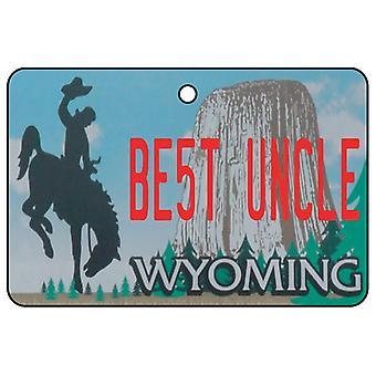 Wyoming - Best Uncle License Plate Car Air Freshener