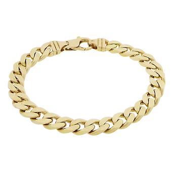 Christian yellow gold link bracelet
