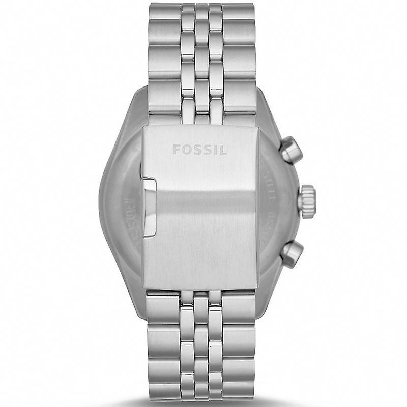 Fossile de Mens Chronographe montre en acier inoxydable bracelet cadran blanc CH2913