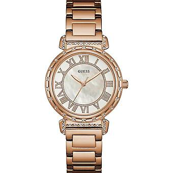 Guess Ladies Watch Rose Gold White W0831L2