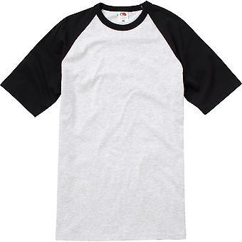 Fruit Of The Loom Mens Short Sleeve Baseball T Shirt