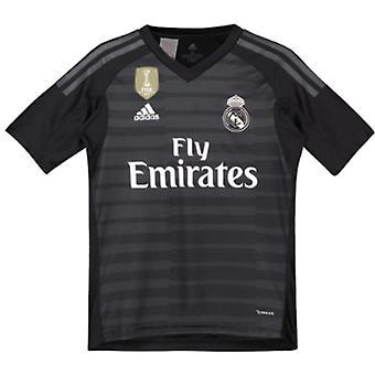 2018-2019 real Madrid Adidas Home keeper Shirt (kinderen)