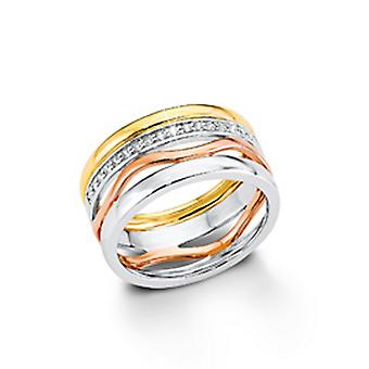 s.Oliver Jewel ladies ring silver Zirkonia Tricolor SO1184