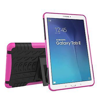 Υβριδική εξωτερική προστατευτική θήκη περίπτωση ροζ για Samsung Galaxy Tab E 9,6 SM T560 T561 υπόθεση