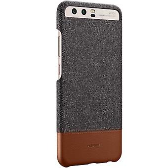 Superficie di Huawei Huawei P10 mashup Custodia cover Manica copertura tessuto marrone