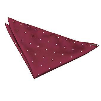 Burgundy Pin Dot Pocket Square