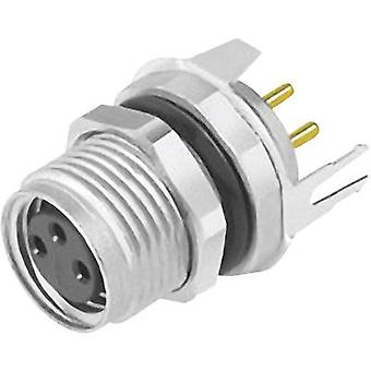 Binder 09 3418 81 03-1 Sensor/actuator built-in connector M8 Socket, straight No. of pins (RJ): 3 1 pc(s)