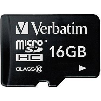 Tarjeta de Verbatim Premium microSDHC 16 GB clase 10