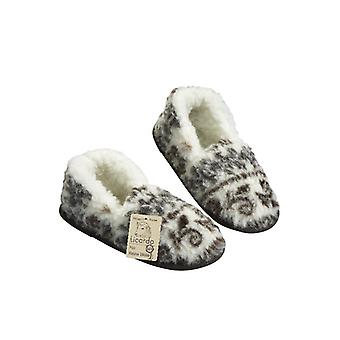 Moccasin slipper foot warmer STOCKHOLM size 42/43 pure new wool