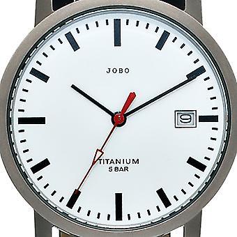 JOBO ladies wrist watch quartz analog titanium leather date ladies watch