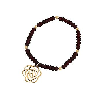 Garnet bracelet Garnet bracelet Garnet jewelry flower Art-Deco gold plated
