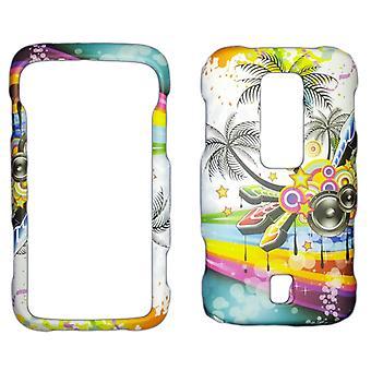 Snap-On cas pour Huawei Ascend M860 (blanc musique tropicale)