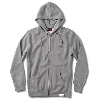 Diamond Supply Co Micro Brilliant Zip Hoodie Heather Grey