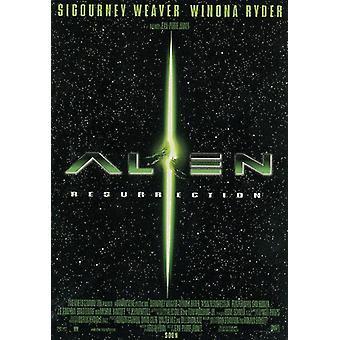 Alien resurrección cartel U.S. tema