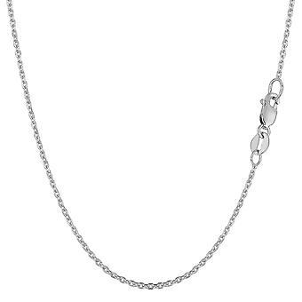14 k białe złoto kabel ogniwo łańcuch naszyjnik, 1,1 mm