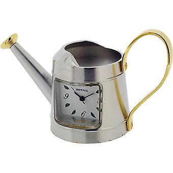 Gift Time Products Watering Can Miniature Clock - Silver/Gold