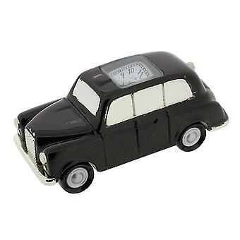 Presente produtos Londres estilo táxi Mini relógio - preto