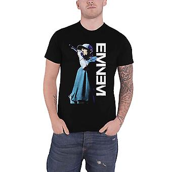 Eminem T Shirt Mic Pose Marshall Mathers Logo Slim Shady new Official Mens Black