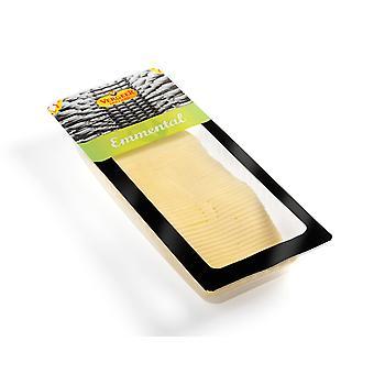 ・ フェルヘール オランダ エメンタール チーズをスライスします。