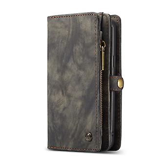 CASEME Samsung Galaxy S9 Rétro portefeuille en cuir Case-Black