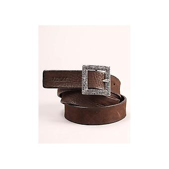 Replay Square Textured Buckle Belt