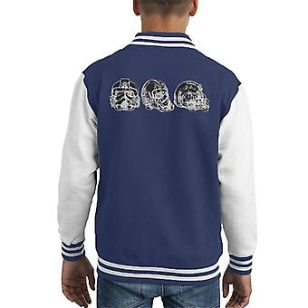 Original Stormtrooper Imperial TIE Pilot Helmet Abstract Kid's Varsity Jacket