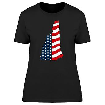 New Hampshire Patriotic Map Tee Men's -Image by Shutterstock