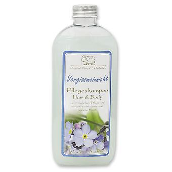 Florex Care Shampoo Hair & Body forget-me-not with sheep's milk delicate and soft skin 250 ml