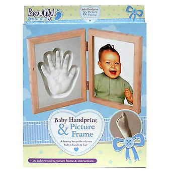 Beautiful Beginnings Baby Hand Print and Picture Frame