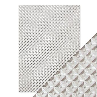 Craft Perfect von Tonic Studios Hand Crafted Cotton Papers Silver Chequer | Pack von 5