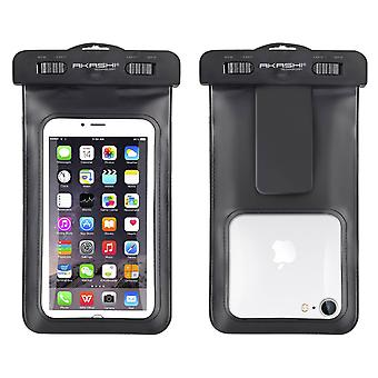 Akashi IPX8 Protection Smartphone Waterproof Pouch Universal Tactile Black
