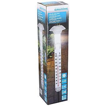 Grundig Plastic Solar LED hage lys med utendørs termometer 12.5 x97cm