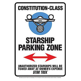 Star Trek Star Ship Parking Tin Sign