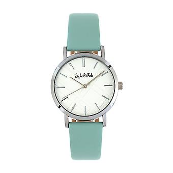 Sophie et Freda Budapest Leather-Band Watch - Sarcelle