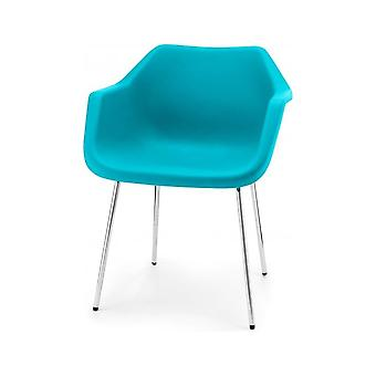 Hille Bright Blue Robin Day Plastic Armchair