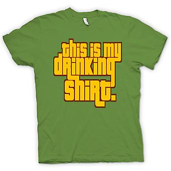 Mens T-shirt - This Is My Drinking Shirt - Quote