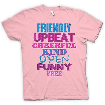 Kids T-shirt - Friendly, Upbeat, Cheerful, Kind, Open, Funny, Free