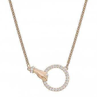 Swarovski necklace and pendant 5489573 - M tal Dor Rose Main Holding Ring Serti Women's Tincing Crystals