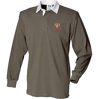 9th 12th Royal Lancers Veteran - Licensed British Army Embroidered Long Sleeve Rugby Shirt