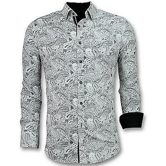 Shirts - Paisley Print - White